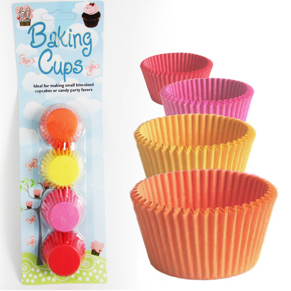 120 Mini Cupcake Liners Paper Baking Cups Cake Candy