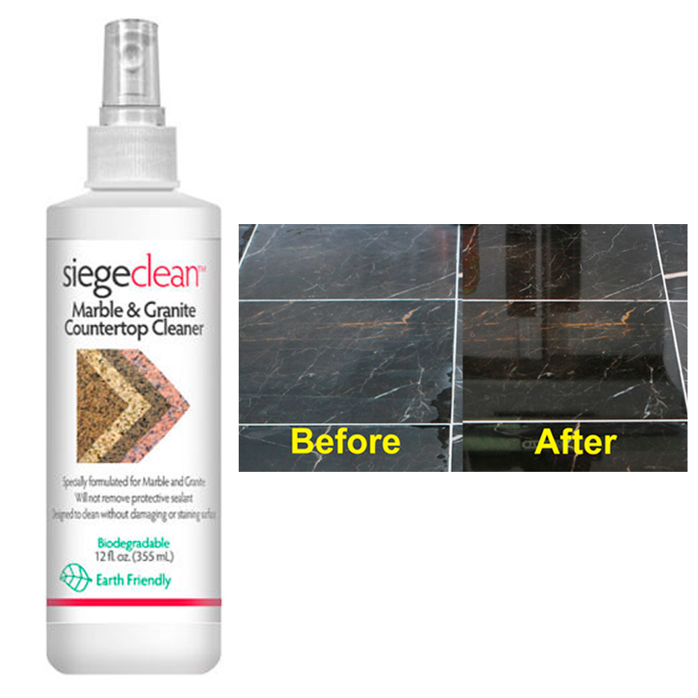 Marble Granite Stone Cleaner Solution 12oz Kitchen Countertop Daily ...