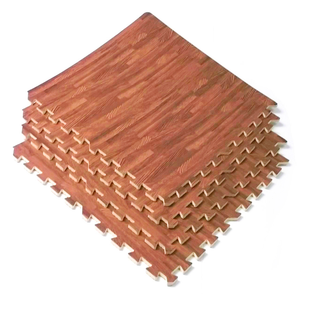 Interlocking Wood Grain Cherry Eva Mats Foam Flooring Gym