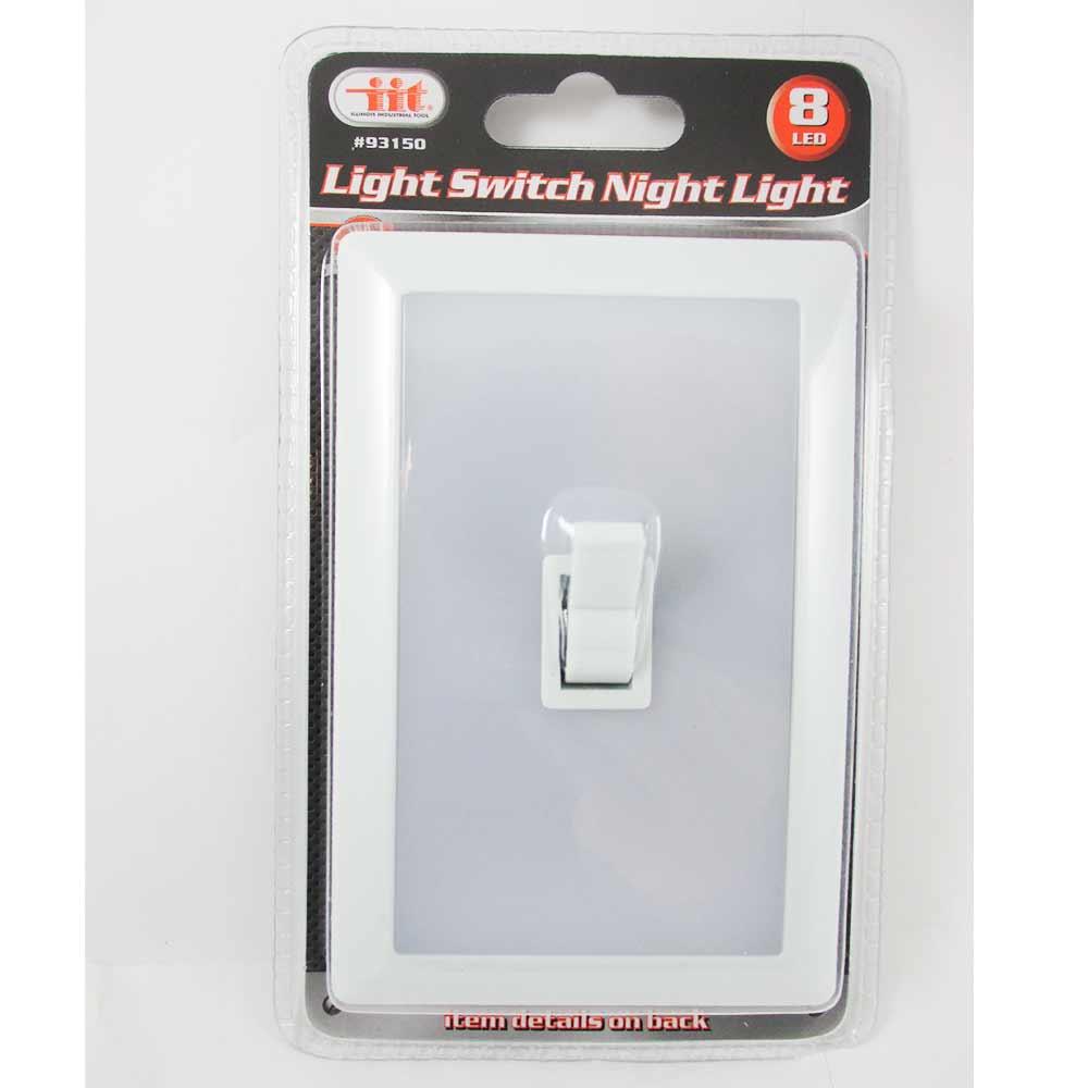 Peel Wall Light Diy : 8 LED Peel Stick Switch Cover Wall Night Light White Tool Box Garage Home Closet eBay