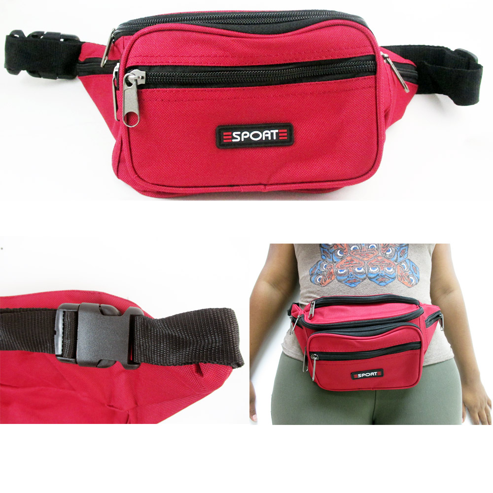 d32f98a7cabf 1 Waist Fanny Pack Belt Bag Pouch Travel Sport Hip Purse Zipper ...