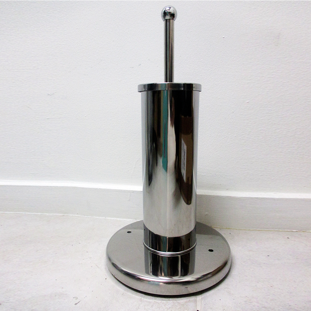 Stainless steel toilet bowl brush paper holder set stand canister bathroom new ebay - Toilet roll canister ...