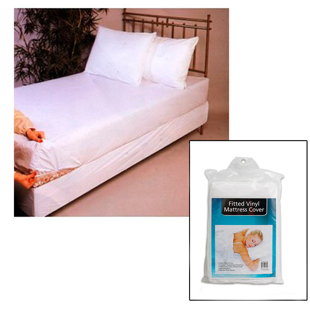 twin size bed mattress cover plastic white waterproof bug. Black Bedroom Furniture Sets. Home Design Ideas