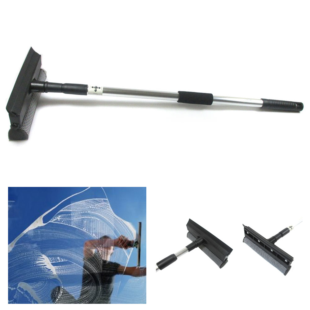Telescopic Extendable Window Squeegee Cleaner Wiper Long