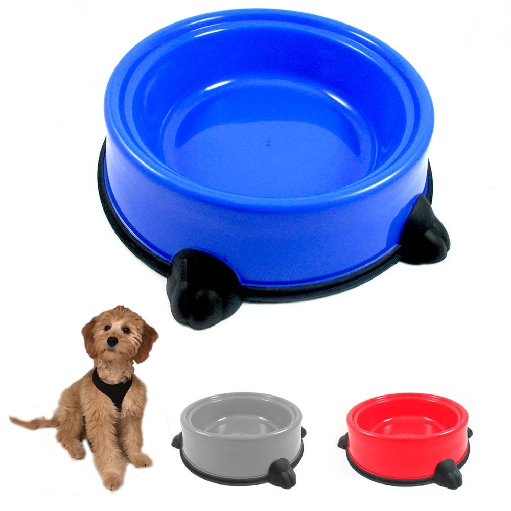 Large Plastic Dog Food Bowl Pet Feeder Dish Water Feeding