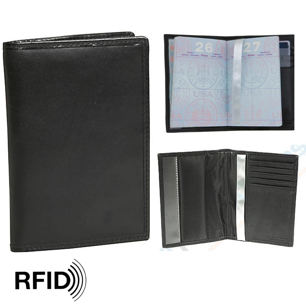 800eaabb7dc3 Details about 1 Travelon RFID Blocking Leather Passport Holder Wallet Card  Cover Case Travel