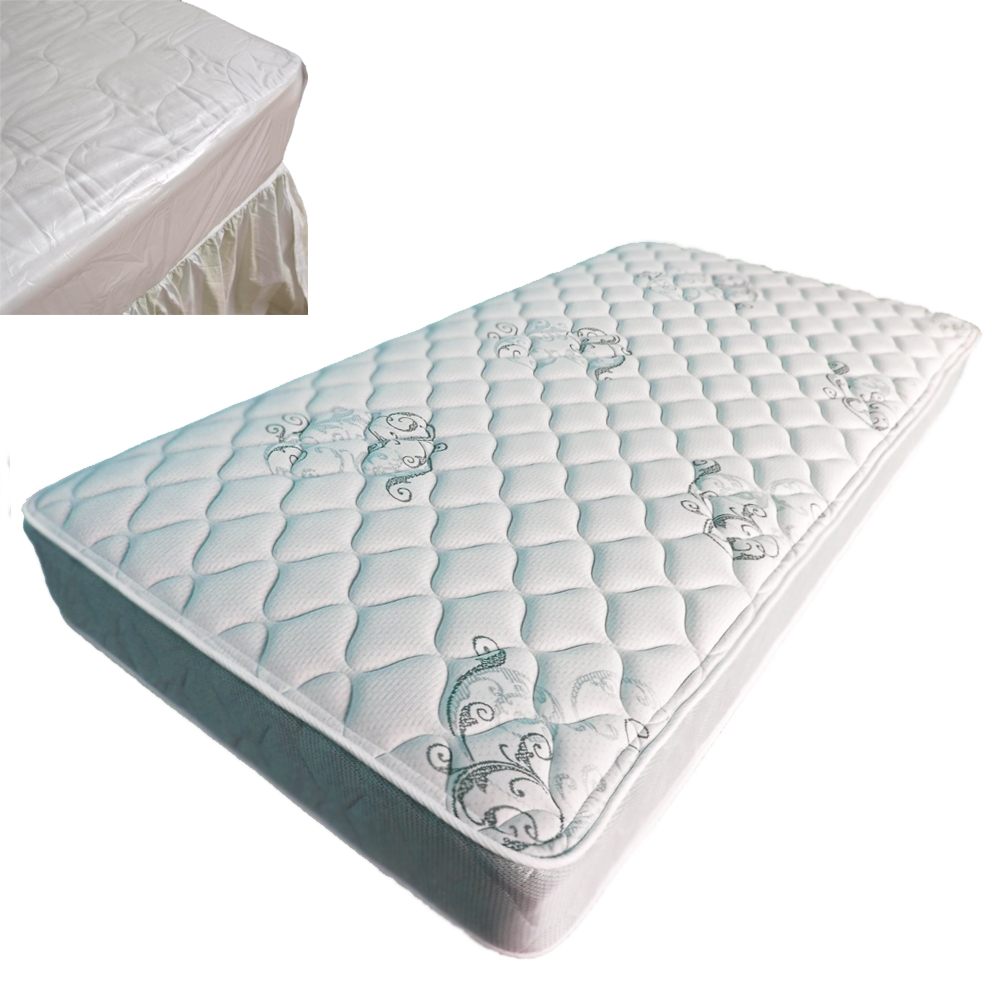 Twin Size Bed Mattress Cover Plastic White Waterproof