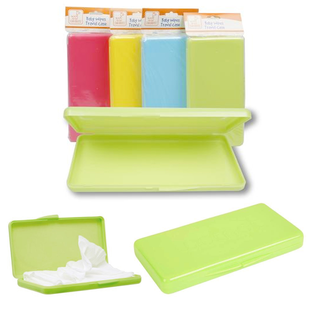 2 X Baby Wipe Case Diaper Wet Wipes Container Set Travel