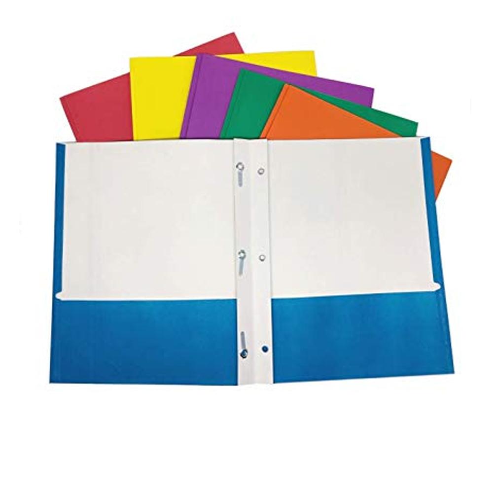 4 X Portfolio 2 Pockets Binder Document Folder Organizer 3