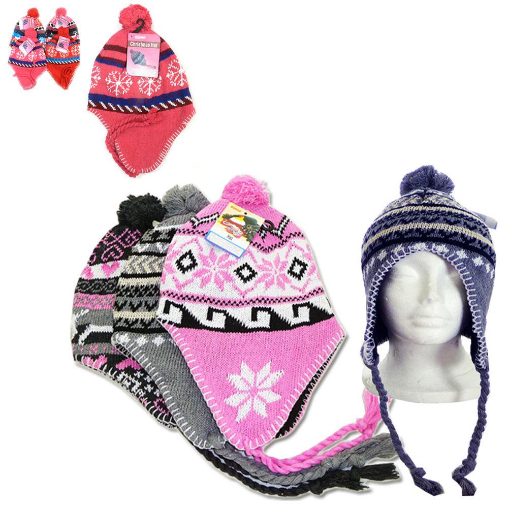 a09a170e2d7b2e 1 Peruvian Winter Earflap Muff Ski Hat Skully Beanie Cap Snow Womens Mens  Cozy. Click on the below images to view enlarge. AllTopBargain$