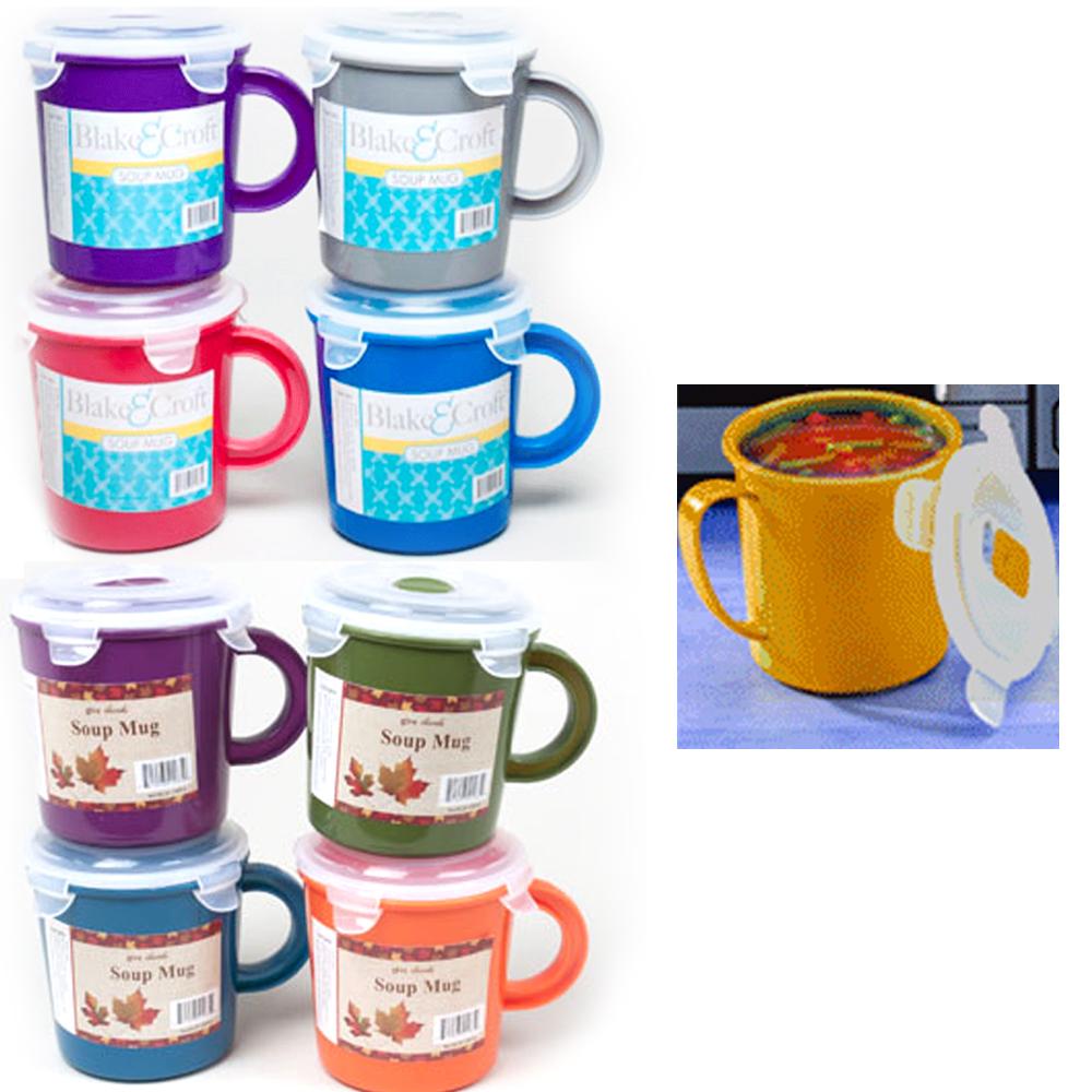 Lot Of 6 Soup Mug Bpa Free Travel Coffee 23 Oz Take Out