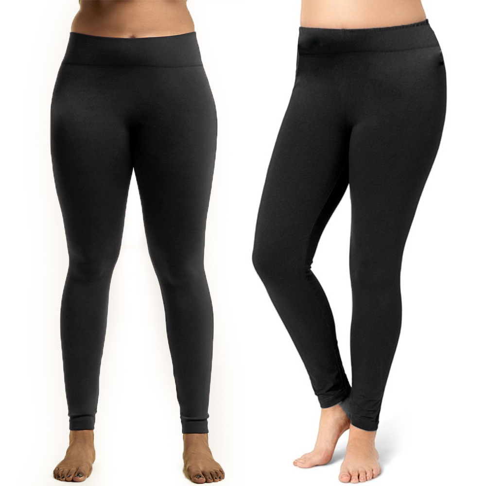 c54f88ffff4 Black Leggings Plus One Size Fit Seamless Fleece Yoga Pants Stretchy Women.  Click on the below images to view enlarge. AllTopBargain