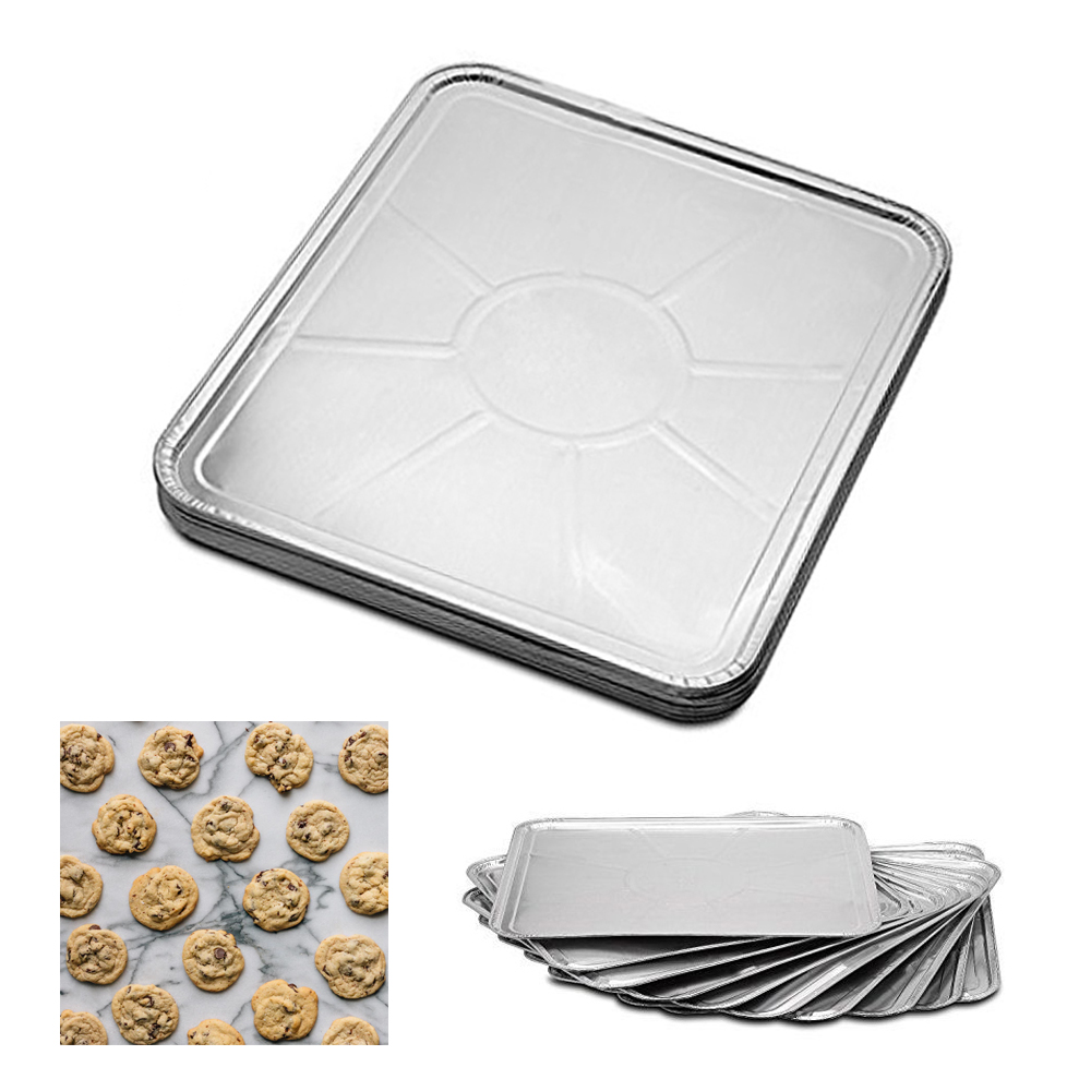 100 Pc Disposable Aluminum Foil Pans Oven Tray Table