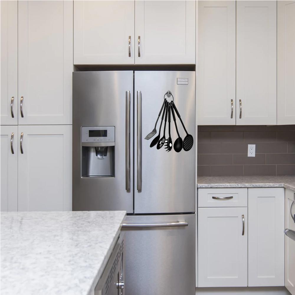 6 Pack Magnetic Hooks 1 1//2 Heavy Duty 8lb Capacity Refrigerator Kitchen Garage