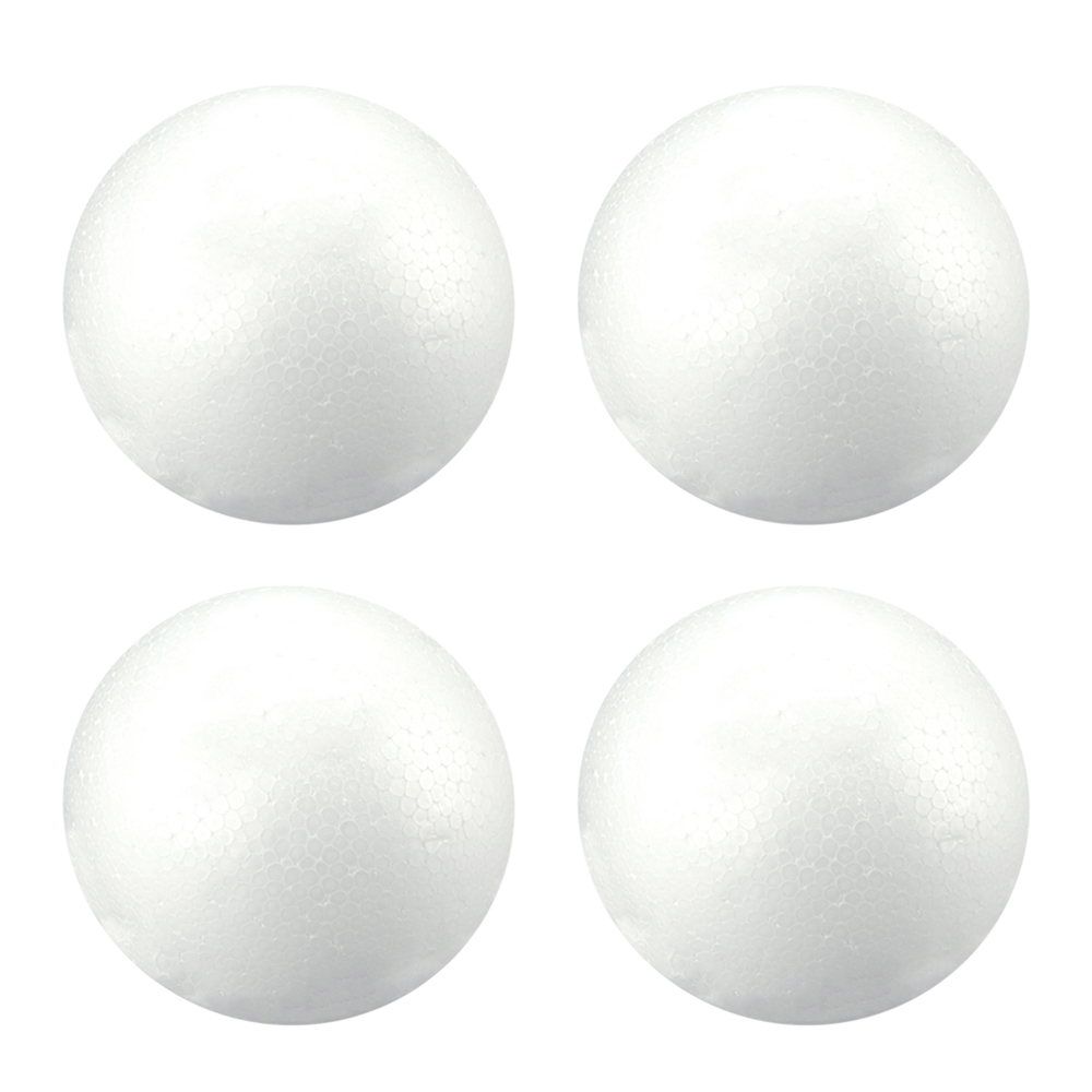 Outus 56 Pieces White Foam Balls Craft Ball Art Decoration Balls for Christmas Household School Projects 4 Sizes