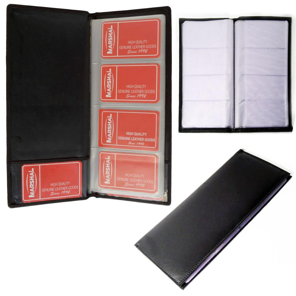 genuine leather business card holder book organizer 96