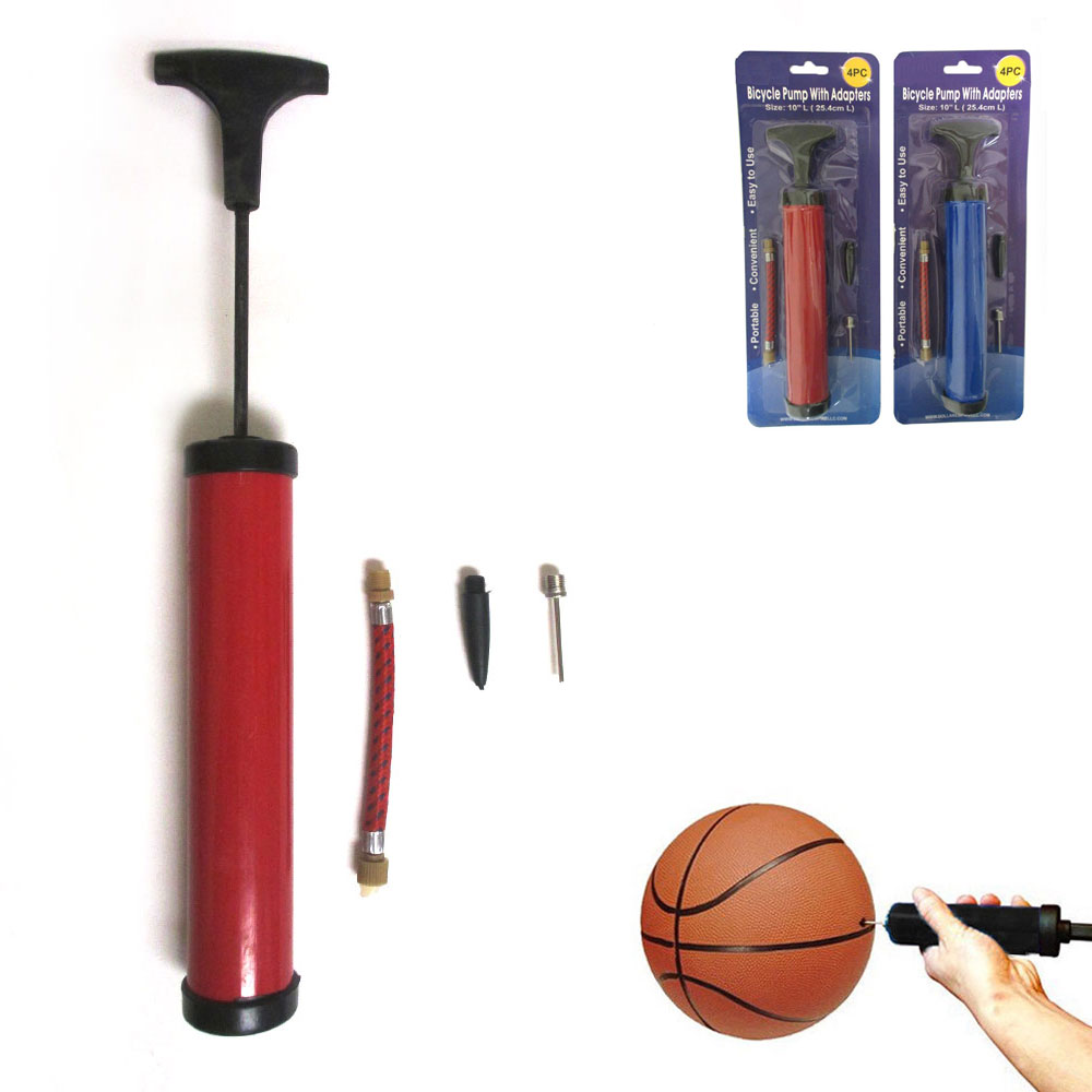 AND1 Ball Pump or Ball Pump Kit with Net Compact and Portable Hand Pump for Basketballs Soccer Balls Footballs and Volleyballs
