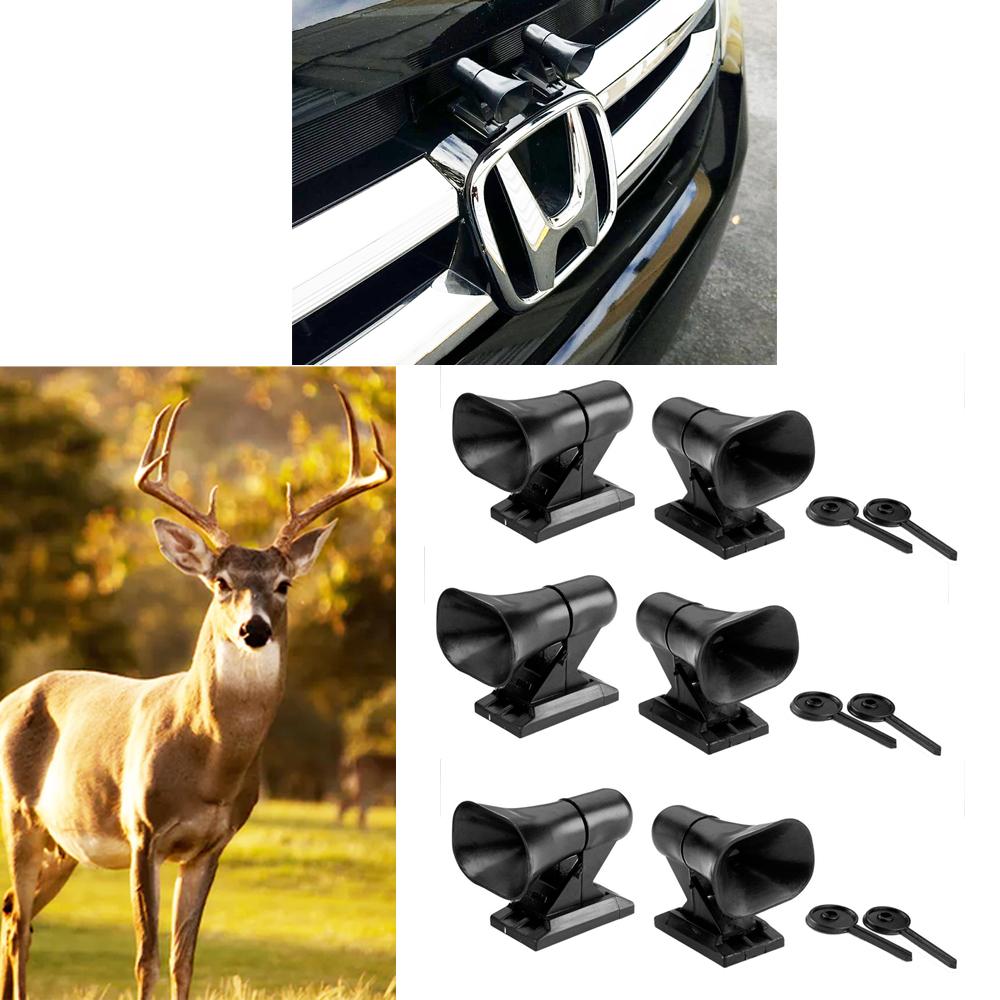 2PC Ultrasonic Deer Warning Whistles Animal Wildlife Alert Device Car Safety New