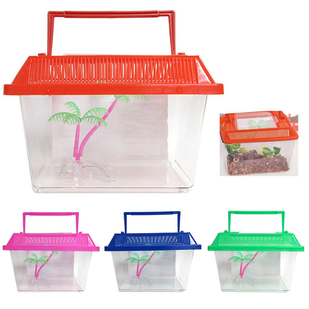 Aquarium Starter Kit Fish Tank 0 3 Gallon Carrier Reptile Turtle Frog Terrarium Ebay