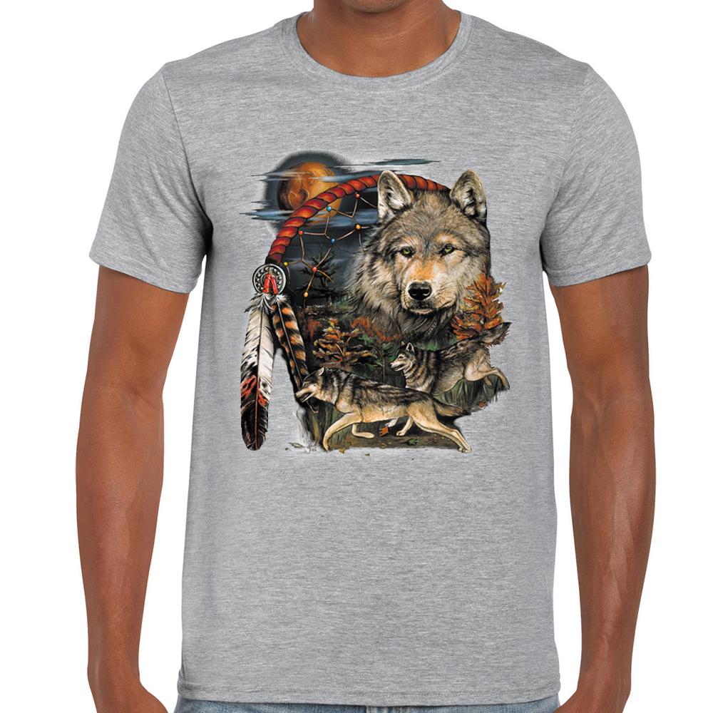 Native American Wolf Dream 3//4 Sleeve Dream Catcher Raglan Baseball Shirt