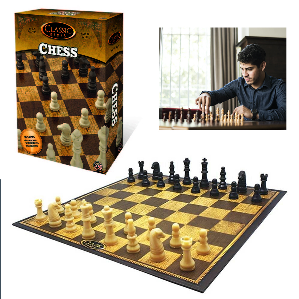 Classic Chess Set Traditional Folding Board Game Family Fun Kids Gift