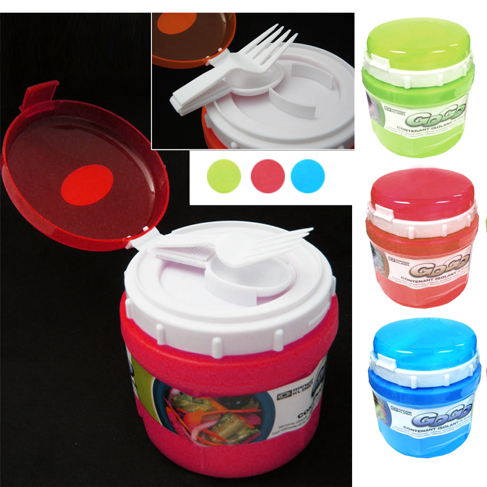 1 Travel Soup Mug Cup 10 Oz Take Out Microwave Safe Container Storage Spoon Fork Ebay